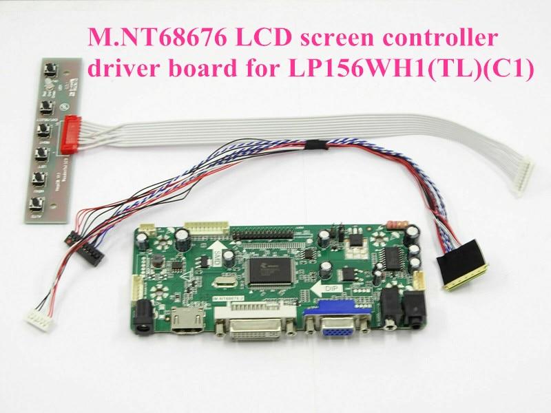 US LCD Monitor Driver Controller Board Electronic TV HDMI VGA DVI LCD