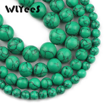 WLYeeS Factory price Green Beads Natural stone 6 8 10 12mm Selectable size Round Loose beads for jewelry Bracelet Making DIY 15