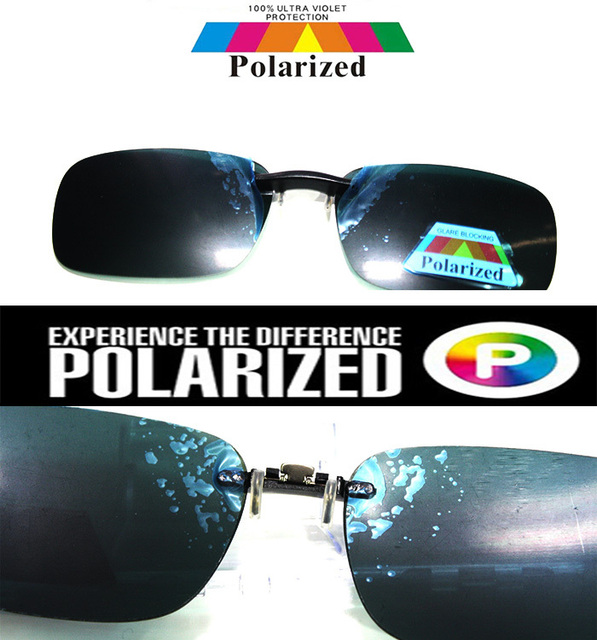 1422b03dd9 2017 Clip glasses Driver s TAC enhanced polarized polaroid polarised golf  fishing UV 400 men women sunglasses