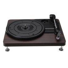 Деревянный Цветной Retro проигрыватель 33 об/мин Портативный Аудио граммофон Проигрыватель дисков винил аудио RCA R/L 3,5 мм выход USB DC 5 В