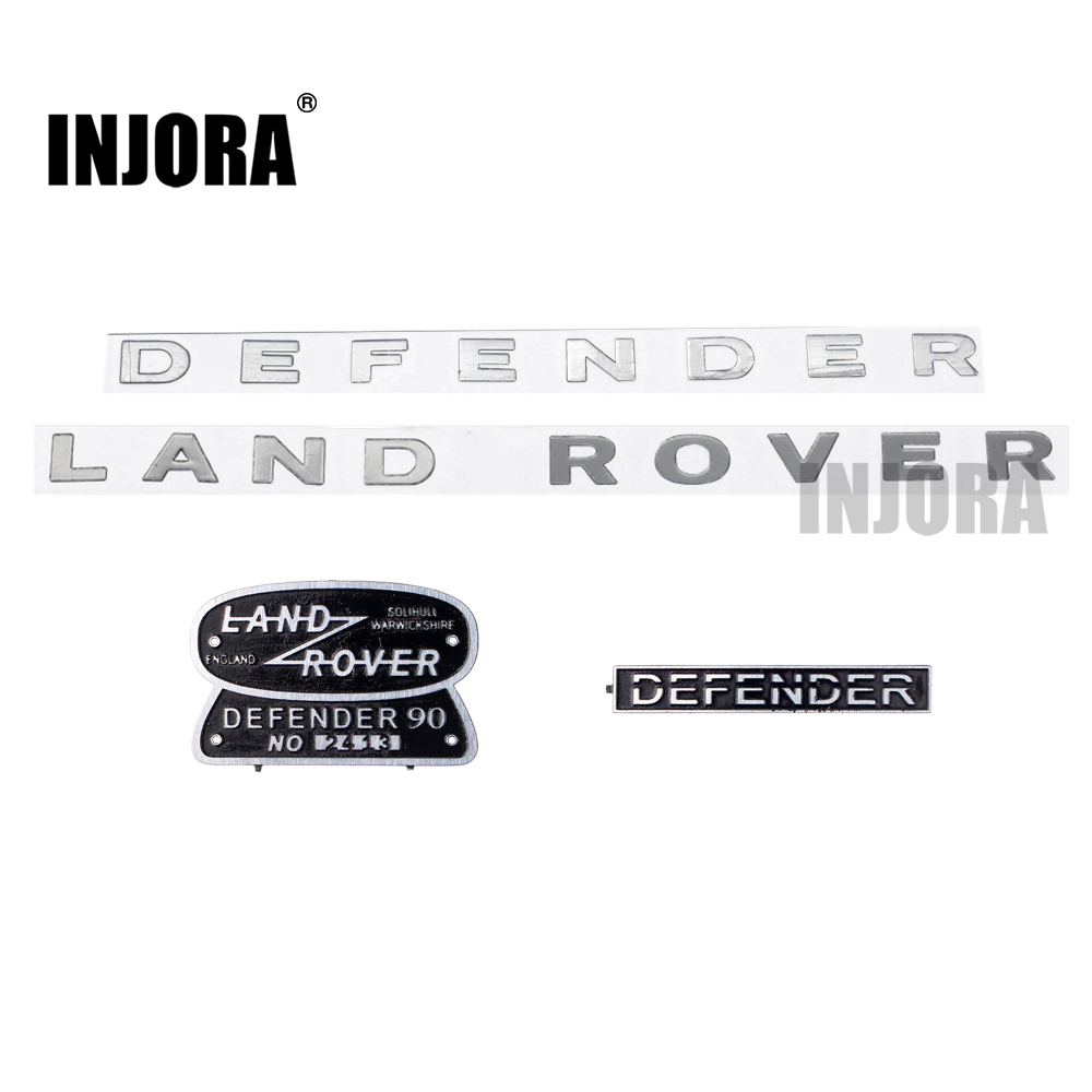 INJORA Land Rover Defender Metal Logo Brand Decoration Sticker for 1:10 RC Crawler Traxxas TRX-4 RC4WD D90 D110 Body Shell усилитель руля насос для land rover defender 07 ld90 15 внедорожник 2 4 td4 oem lr009817 новый