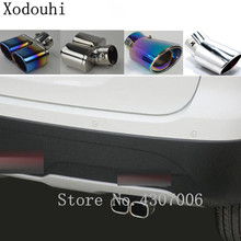 Car Cover Styling Muffler End Tail Pipe Dedicate outlet Exhaust 1pcs For Toyota Corolla Altis 2008 2009 2010 2011 2012 2013 for toyota corolla altis led tail light 2011 2012 year smoke black color yzv2