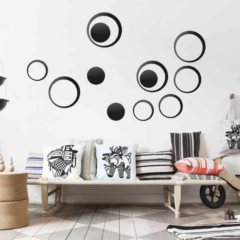 Círculos DIY Espelho Adesivos de Parede de Vinil Arte Mural Adesivo de Parede Decoração Do Quarto Sofá TV Fundo Da Parede de Casa Decoração Dropshipping