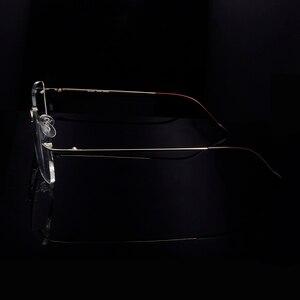 Image 3 - Titanium Eye Glasses Frame for Men  Frameless Rimless Glasses Optical Frame Eyeglasses Women High Quality Square Spectacles