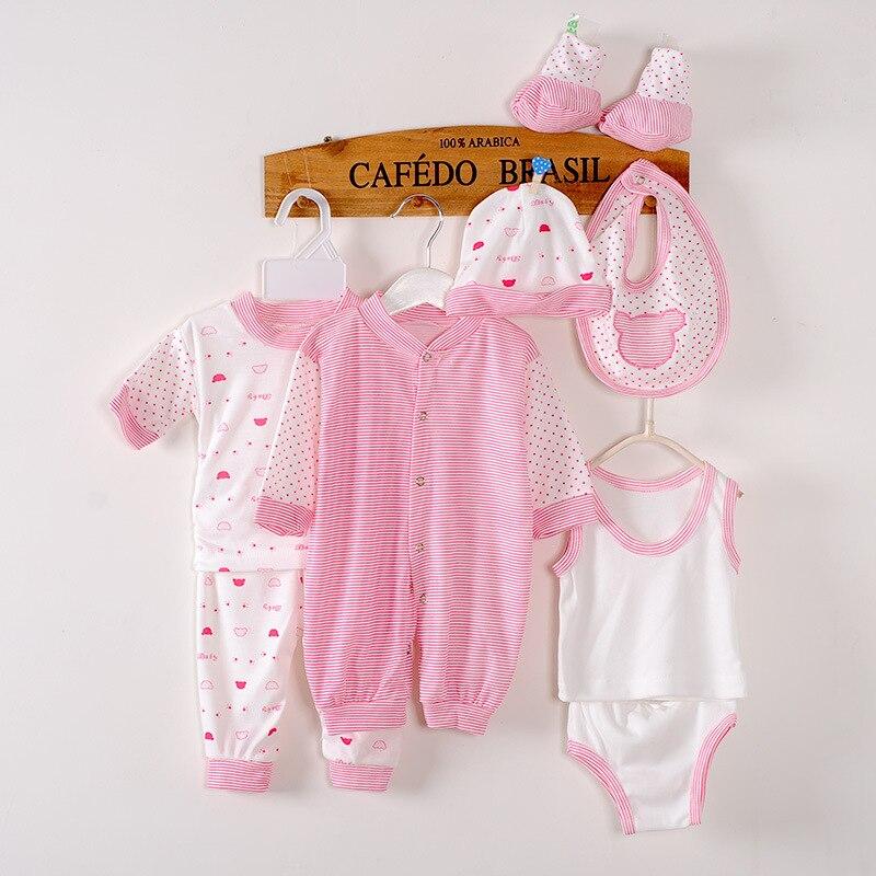 (8pcs/set)Newborn Baby 0-3M Boy Girl warm Clothes sets Cotton Cartoon Underwear baby clothing sets newborn clothes suit
