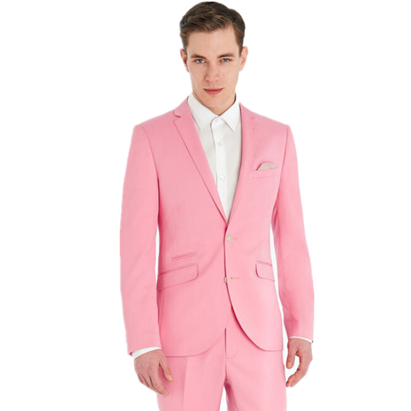Hot Pink Traje de Esmoquin Traje Homme Hombres de Traje de Hombre de ...