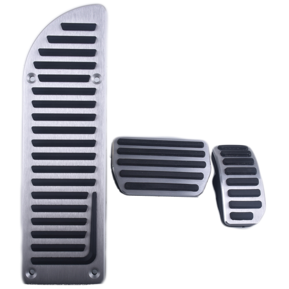 3pcs Aluminium Non Slip Foot Rest Fuel Gas Brake Pedal Cover For <font><b>volvo</b></font> <font><b>XC60</b></font> S60 V70 XC70 S80 2015 <font><b>2016</b></font> 2017 image