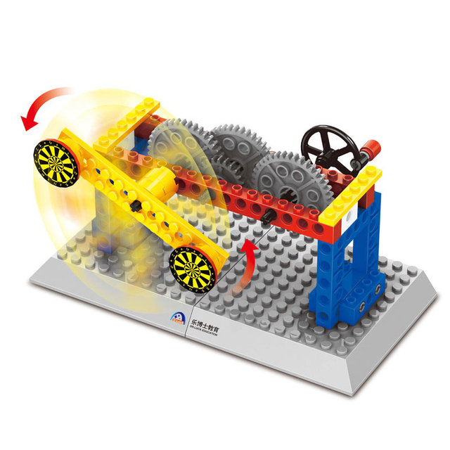 Wange Blocks Mechanical Speed Variable Principle Crown Gear Model Building Blocks For Children Scientific Learning Toys