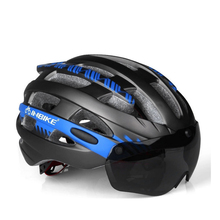 Riding Bicycle Goggles Helmet Magnetic Sports Bike Cycling Safety With Lens MTB Road Breathable Helmets Men Women