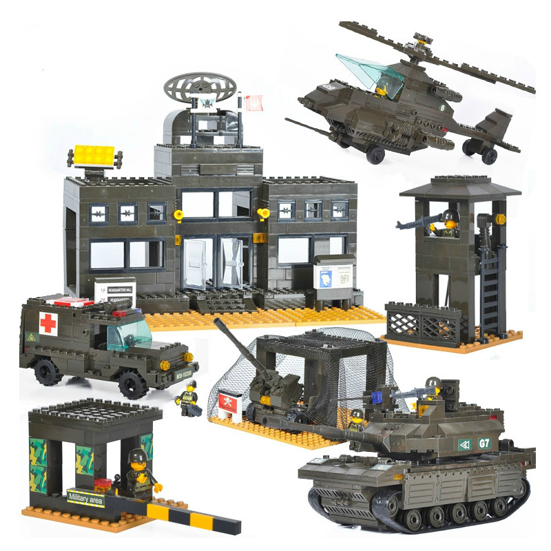 Sluban Military Series Army Heavy Tank Helicopters Air Defense System Construction Building Blocks Bricks Compatible With Lego