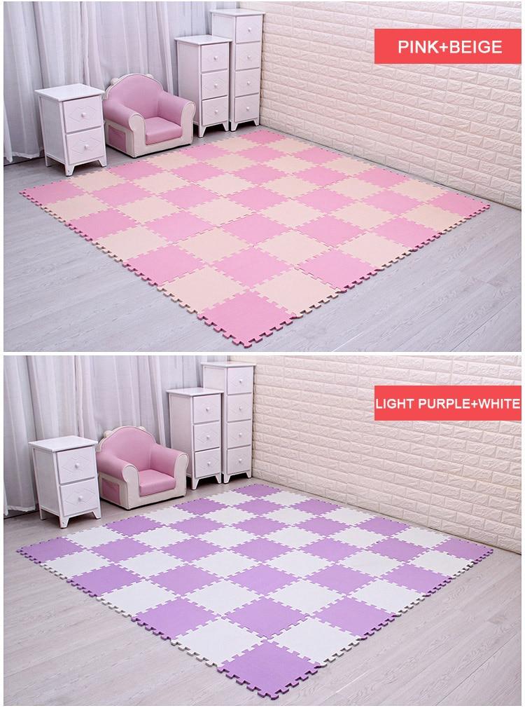 Baby EVA Foam Puzzle Play Mat /kids Rugs Toys carpet for childrens Interlocking Exercise Floor Tiles,Each:29cmX29cm