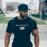 2019 nouveaux hommes coton gymnases hommes t shirt Fitness musculation chemises Crossfit mâle marque t-shirts à manches courtes gymnases t-shirt hommes costume