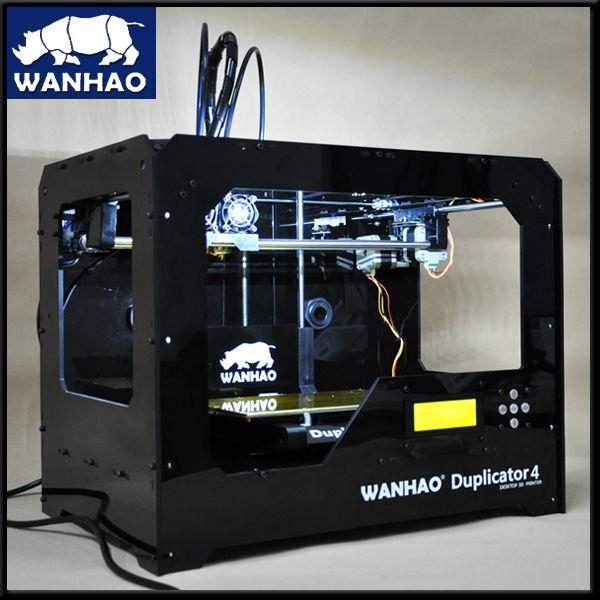 wanhao 3d desktop  printer D4 double extruder in black wanhao steel frame desktop digital 3d printer duplicator i3 v2 1