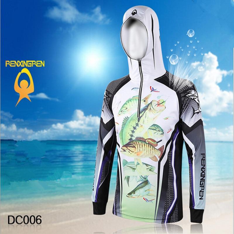 Pria Merek Pakaian Memancing Anti UV Bernapas Cepat kering homme - Penangkapan ikan - Foto 2