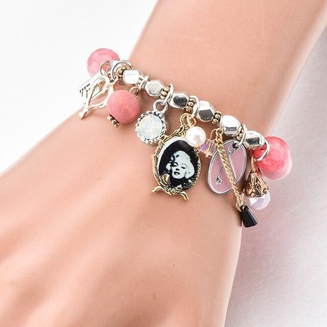 Фото chicvie розовые браслеты ручной работы и с подвесками для женщин