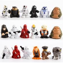 18PCS/Lot Star Wars Figures Mini Size Stormtrooper Jabba The Hutt Palace Darth Sidious R2d2 R2-D2 Action Figure Model Toys 3cm