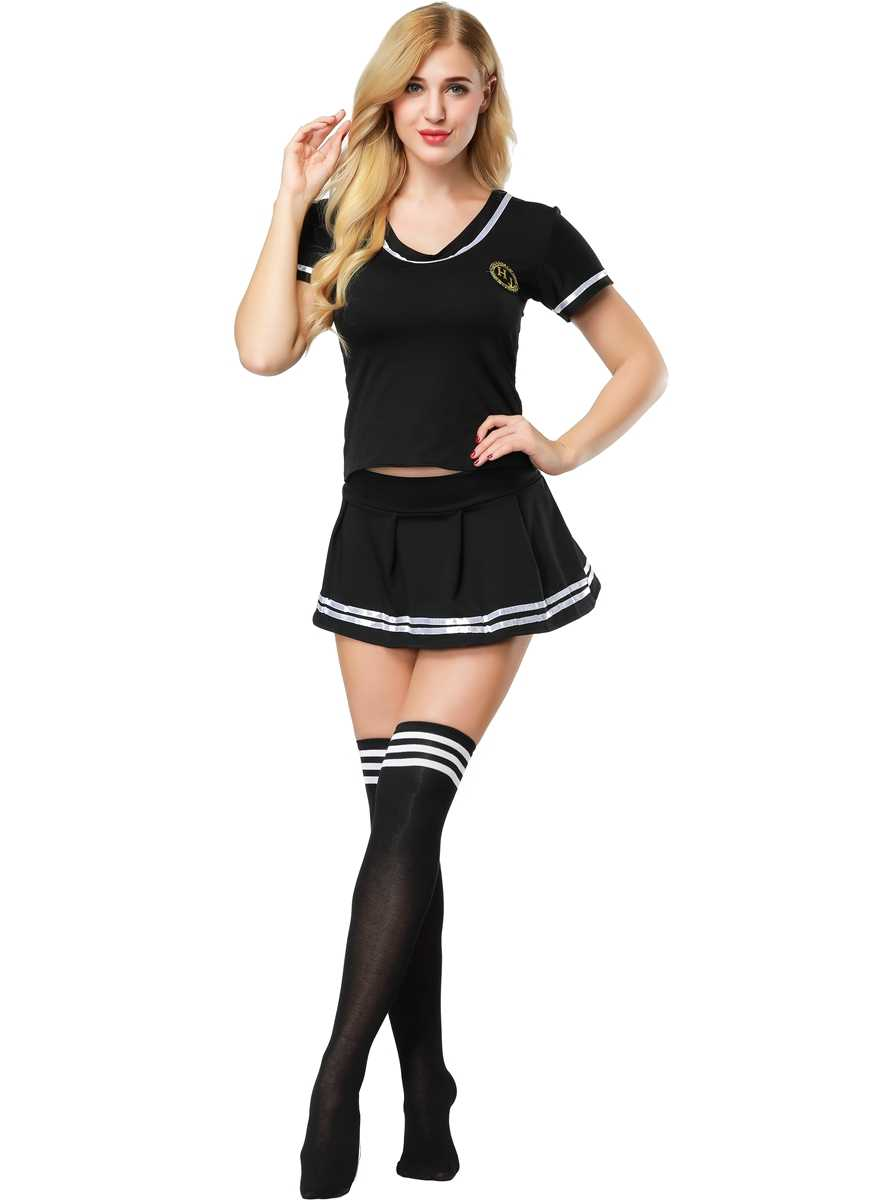 e8664c03622 S-4XL Women Sexy Sailor Suit Girl's Cosplay Student Uniform Sexy Football  Cheerleader Costume With Stocking 3S1819