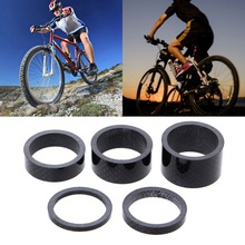 1 Set Bicycle Front Fork Spacer For 28.6mm Carbon Fiber Bowl Series MTB Headsets Front Fork Spacer 700c road bicycle front fork carbon fibre 100mm front spacing 1 1 8 diameter baby black color touringbicycle fork