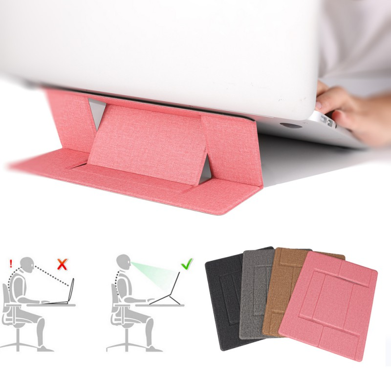 Invisible Laptop Stand Folding Adjustable Bracket Portable Tablet Holder For IPad MacBook Mac Book Lenovo Samsung Computer
