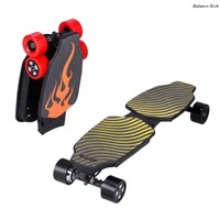 4 Wheels Electric Skateboard Hoverboard Folding Electric Scooter Bluetooth Overboard With Dual Motor Remote LED Display