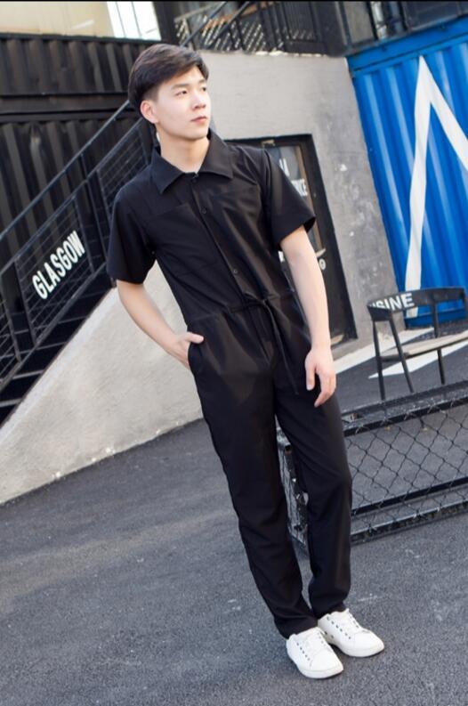 Pièce Court 2018 Vêtement Cheveux Nouveau Manches Vêtements 1 Mode La Conjoined Seule De 2 Plus Costumes Salopette D'une Hommes Styliste Taille Lâche 44zqwrFOpx