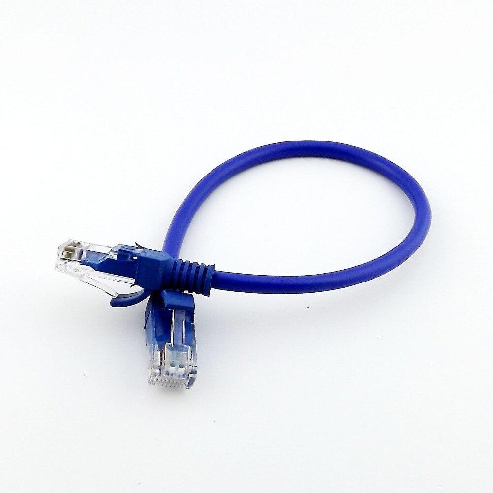 Best Top Cable Internet 4m Cat5e Cat 5e Rj45 Network Ethernet Patch Lan Lead Wire 1 Pcs 20 Cm Line Blue