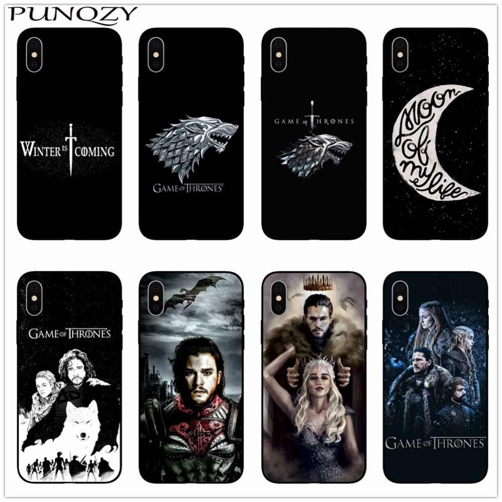 new arrival 0215f ba95d Game Thrones Daenerys Dragon Jon Snow tyrion lannister Soft Phone Case  Fundas For iPhone 7 7plus 6 6S 6Plus 8 8Plus X 5 5S SE