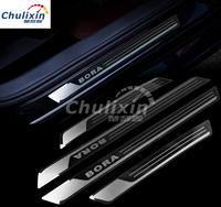 4pcs Lot Slim Door Sill Scuff Plates Car Stickers Car Styling FOR 2013 2014 2015 2016