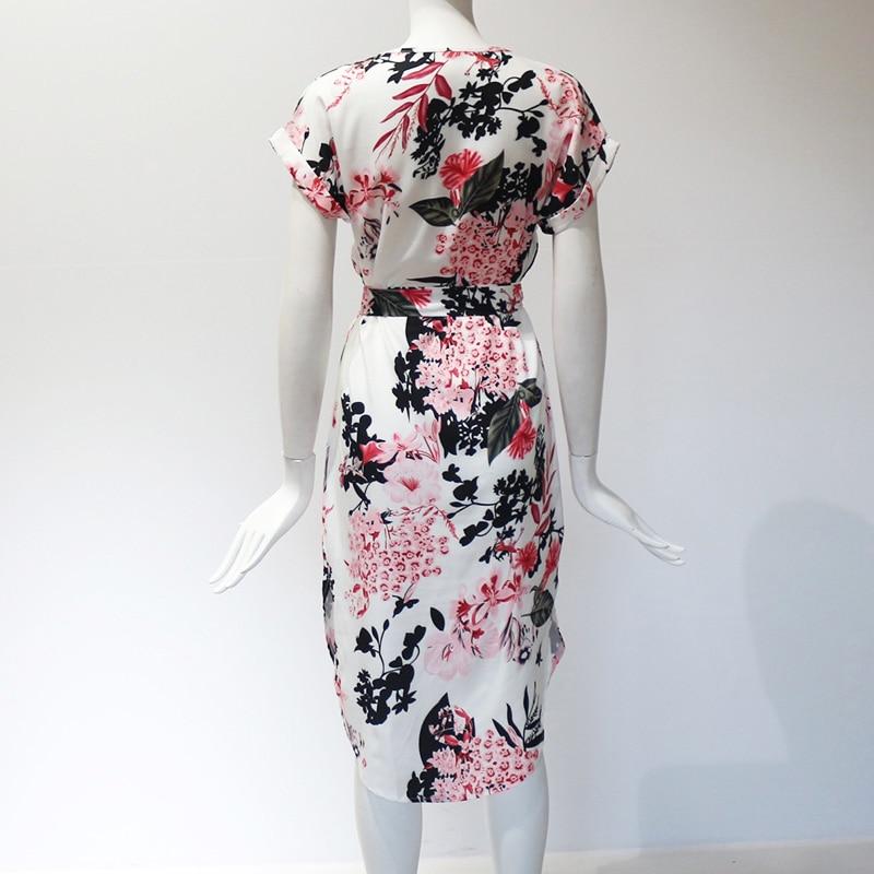 Aachoae 2020 Women Midi Party Dresses Geometric Print Summer Boho Beach Dress Loose Batwing Sleeve Dress Vestidos Plus Size
