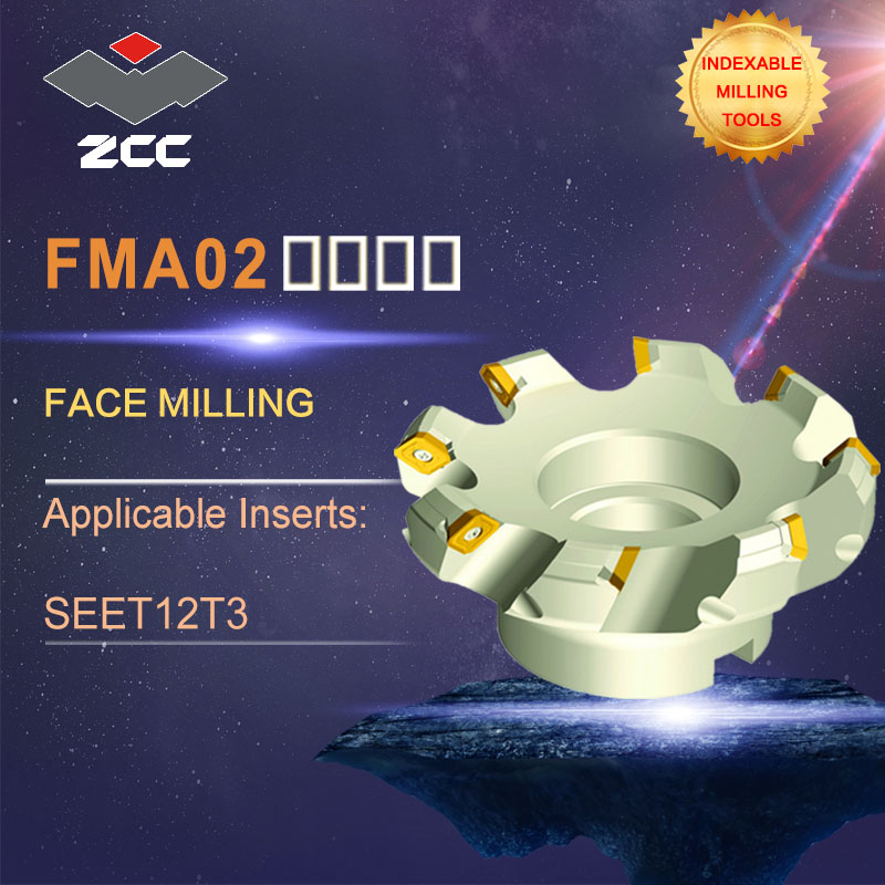 ZCC.CT original face milling cutters FMA02 high performance CNC lathe tools indexable milling tools face milling tools