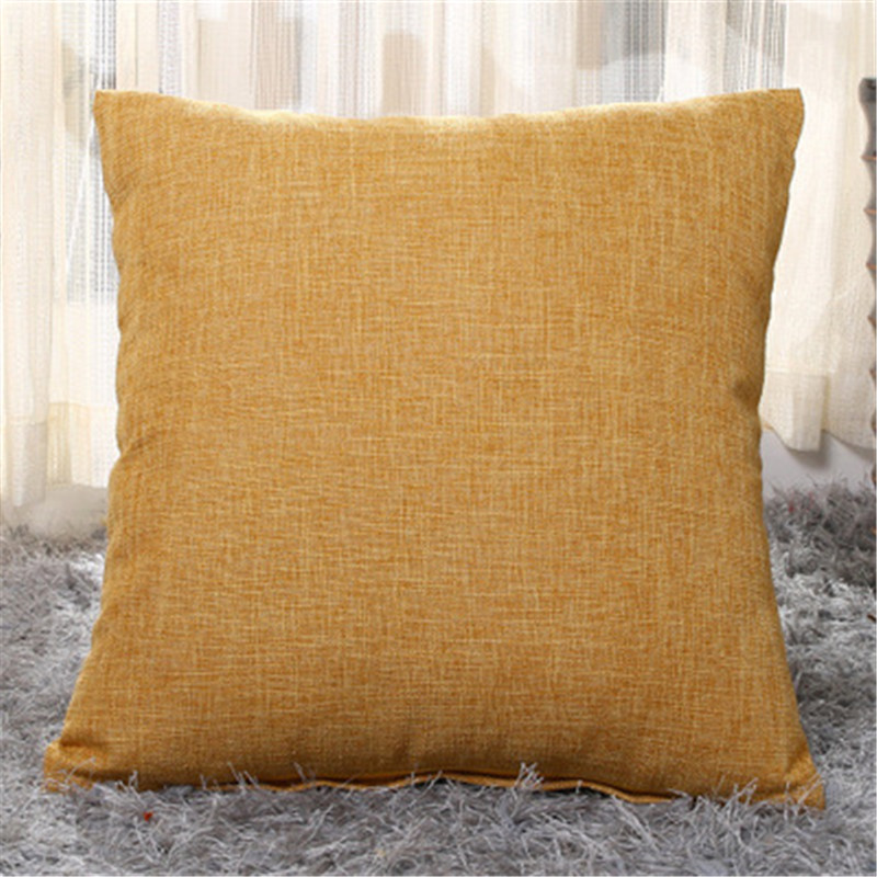 Yellow Thick linen gift cushion Cover home <font><b>Pillow</b></font> <font><b>Case</b></font> <font><b>50*50cm</b></font> New Seat Chair Car Cotton Linen Printed <font><b>Pillow</b></font> Cover Pillowcase image