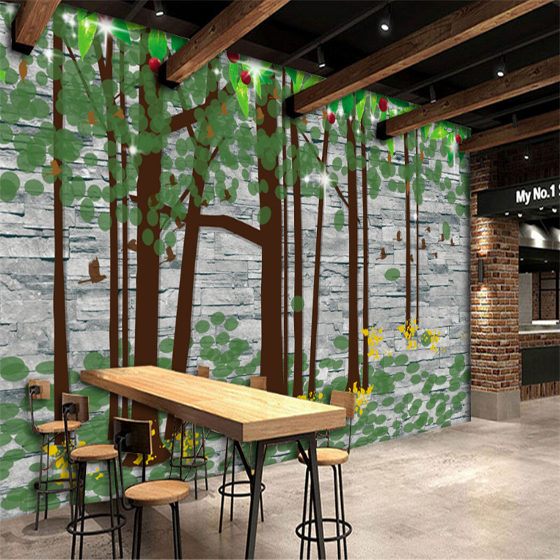 custom modern 3d photo non-woven wallpaper wall mural 3d wallpaper simple wood forest pastoral restaurant bar background wall taisser h h deafalla non wood forest products and poverty alleviation in semi arid region