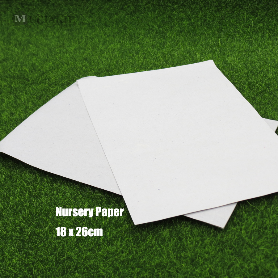 MUCIAKIE 15PCS Soilless Cultivation Nursery Paper Sprout Plate Seedling Tray Germination Nursery Moisturizing Papper Vegetables