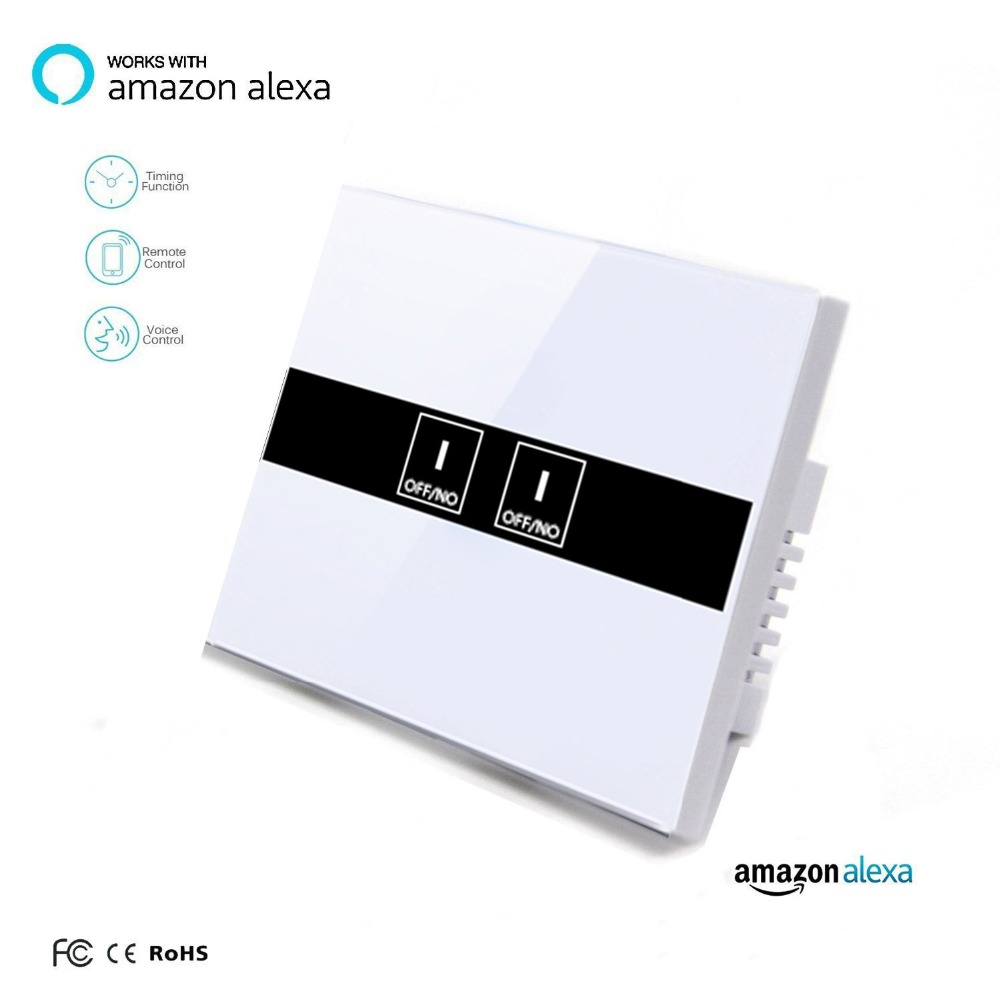 Work with Amazon Alexa Google Home 90~250V Smart Wi-Fi Switch Glass Panel UK 2gang Touch Light wall switch Ewelink app work with amazon alexa google home 90 250v smart wi fi switch glass panel uk 3gang touch light wall switch ewelink app