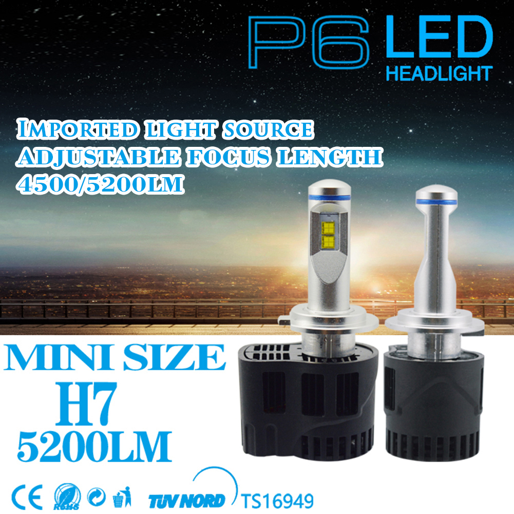 2pcs 110W 10400LM H7 H8 H9 H11 9005 HB3 H10 HB4 9006  LED Car Headlights 6000k  Headlamps P6