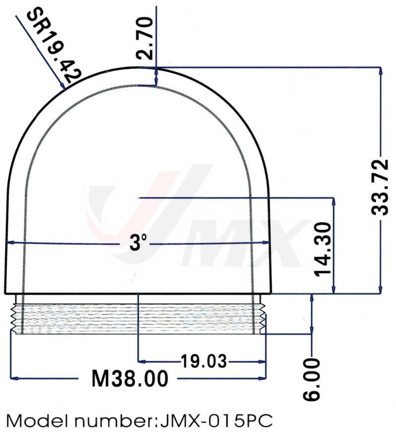 JMX 1,5 inčni WEBCAM prozirni poklopac kućišta kamere kućišta IP - Sigurnost i zaštita - Foto 2