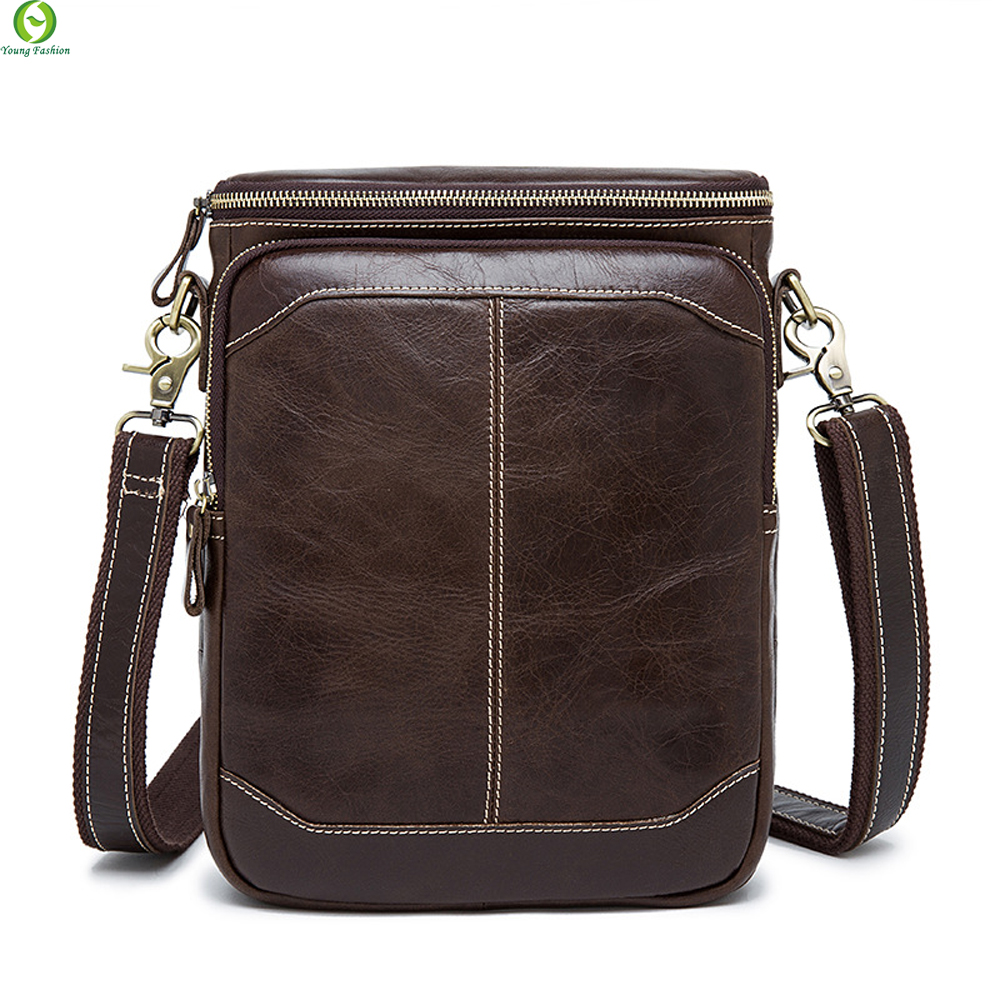100% Genuine Leather Men Bag Small Shoulder Bags Vintage Mens Messenger Bags Crossbody Bag Mens Leather Handbag Hot sale 2016