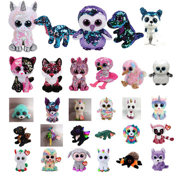 f138deb86e1 TY Beanie Boos 15cm white sequin Unicorn Dog Owl Danger Alpaca Dragon Plush  Toys Big Eyes Eyed Stuffed Animal Soft Toy Kids Gift