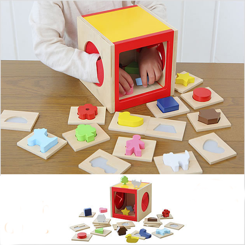 Montessori Toys Kids Educational Wooden Toys for Children Early Learning Baby Sensory Teaching Materials Games Shape Pairing