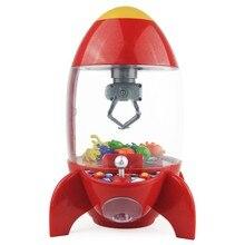 Ракета Ловца монета игровой автомат дети день рождения подарок настольный мини куклы захват машина коготь игрушки аркадные