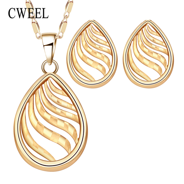CWEEL Jewelry Sets For Bride Women African Jewelry Set Egyptian