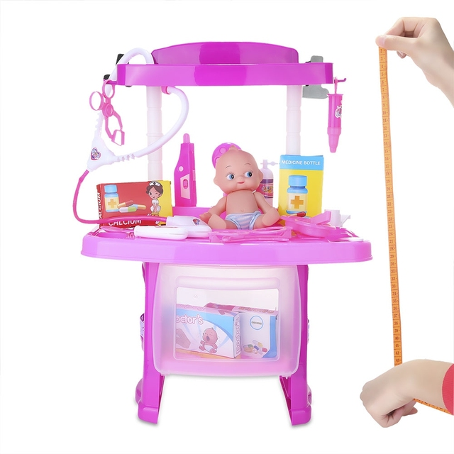 Children Doctor Toys Two Colors Kids Birthday Gift Pretend Play Luxury Simulation Nurse