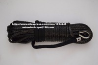 Black 10mm 30m Off Road Winch Rope ATV Winch Cable Synthetic Winch Rope Plasma Rope 10mm
