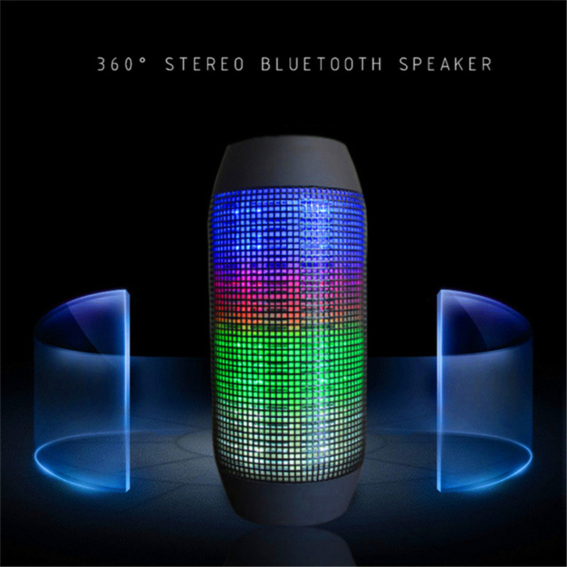 Y35 Portable Outdoor Wireless Bluetooth Speaker With Colorful LED Light Stereo Surround Subwoofer Sound Box Support TF USD FM