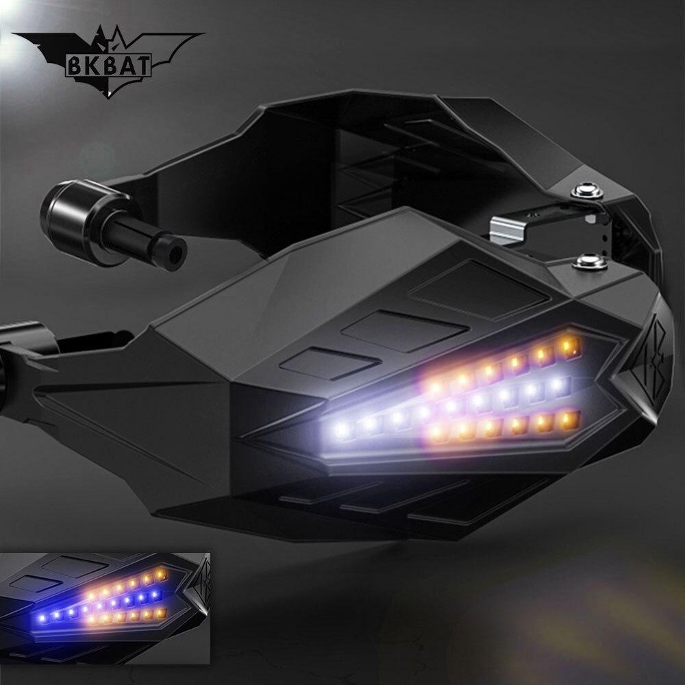 Garde-mains de moto LED garde-main de Motocross pour honda msx 125 suzuki rmz 250 ktm exc 300 v strom 650 dl suzuki yamaha r1 2009