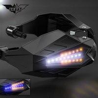 LED Motorcycle Handguards Motocross Hand guard for honda msx 125 suzuki rmz 250 ktm exc 300 v strom 650 dl suzuki yamaha r1 2009