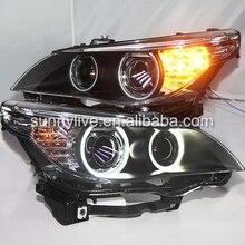 E60 523i 525i 530i головной светильник CCFL angel eyes 2003-2005Year для BMW автомобиль с D2S HID комплект