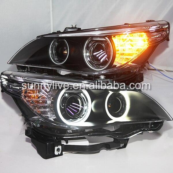 E60 523i 525i 530i Head Light CCFL Angel Eyes 2003 2005Year For BMW original car with D2S HID kit