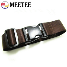 3pcs 38mm*50cm travel luggage strap nylon weave belt with buckle cord fixing band AP2366