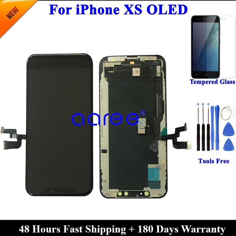 グレード AAA なし証書ピクセル Lcd ディスプレイ iphone XS Lcd ディスプレイ iphone XS OLED 表示液晶画面のタッチスクリーンデジタイザ Assembl  グループ上の 携帯電話 & 電気通信 からの 携帯電話用液晶ディスプレイ の中 1